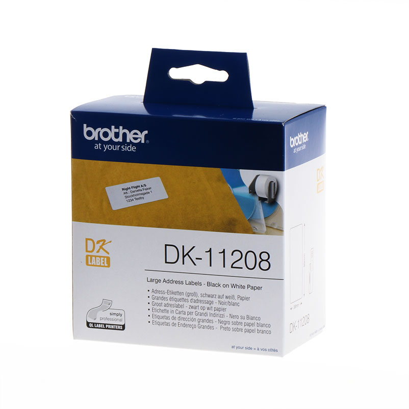 Brother Labels DK11208 standard capacity DK-11208 white 38 x 90mm